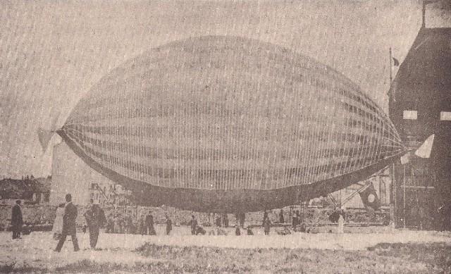 O dirigível criado por Augusto Severo.